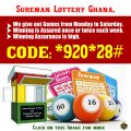 Sureman Lottery Ghana. - website